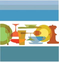 dinning utensils vector image vector image