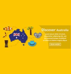 discover australia banner horizontal concept vector image