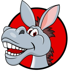 Donkey head cartoon vector