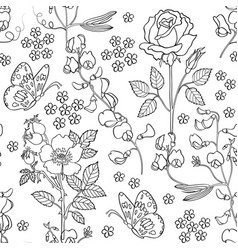 Hand drawn floral background vector