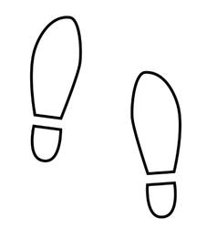 Imprint soles shoes line icon vector