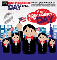 Independence Day celebration concept EPS10 vector image vector image