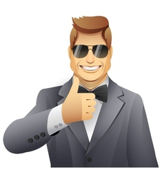 Man with thumbs up vector