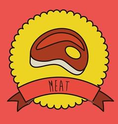 meat design vector image