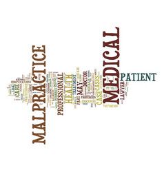 Medical malpractice defined text background word vector