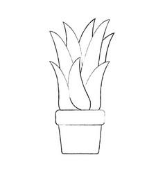 Monochrome blurred silhouette of corn plant in vector