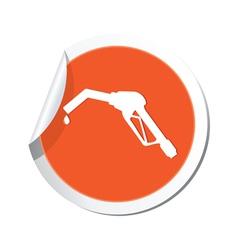 refurlling icon orange sticker vector image