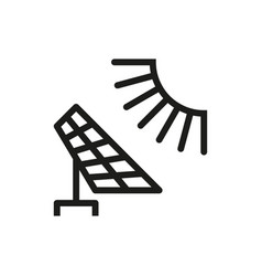 solar energy panel icon on white background vector image vector image
