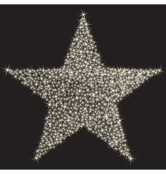 Sparkling star vector