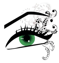 Womans eyes vector