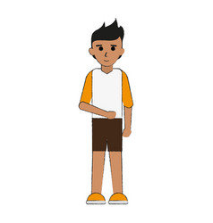 young happy man in casual outfit icon image vector image vector image