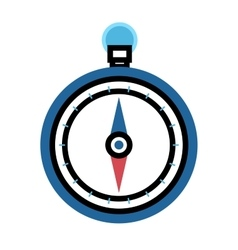 Travel compass icon vector