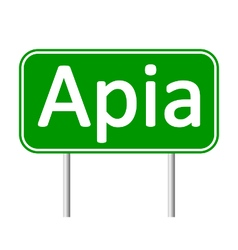 Apia road sign vector