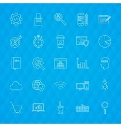 Website development line icons vector