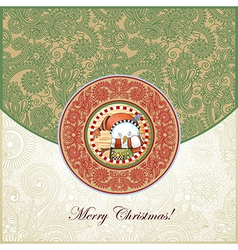 Ornate christmas vintage template vector
