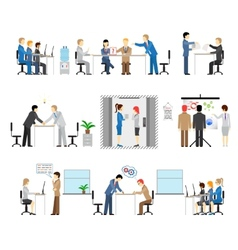 People working in an office vector