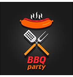 Bbq party invitation poster vector