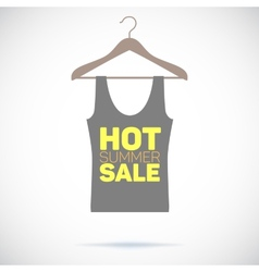 Hanger hot summer sale poster vector