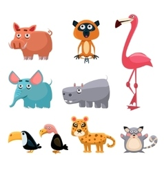 African animals fun cartoon vector
