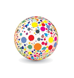 Abstract multicolor ball vector