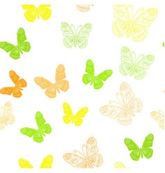 Seamless pattern made of butterflies vector