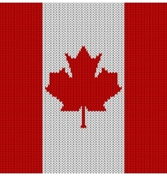 Knitted flag of canada vector