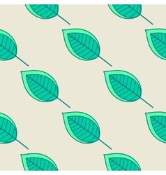 Green leaves nature seamless pattern vector