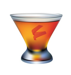 a cocktail glass of orange vector image vector image