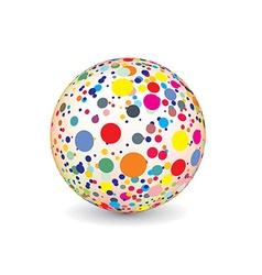 Abstract multicolor ball vector