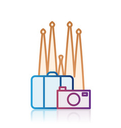 Barcelona tourism destination icon vector