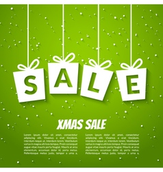 Christmas sale poster template Xmas sale vector image