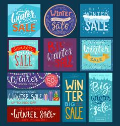 Christmas winter sale saleable wintertime vector