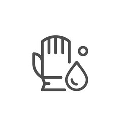 cleaning glove line icon vector image vector image