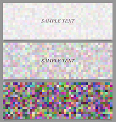 Colorful square mosaic banner background set vector image vector image