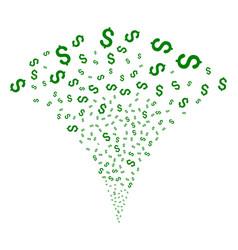 Dollar fountain stream vector