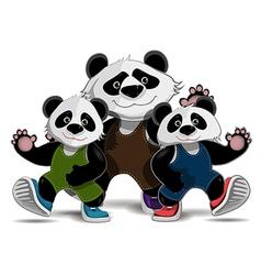 Family of pandas vector
