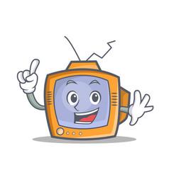 Finger tv character cartoon object vector