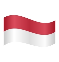 Flag of Indonesia waving vector image