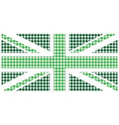 Green United Kingdom Flag vector image