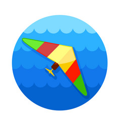 Hang glider icon summer vacation vector