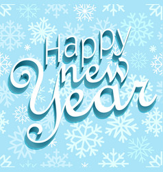 Happy new year greeting card template happy new vector