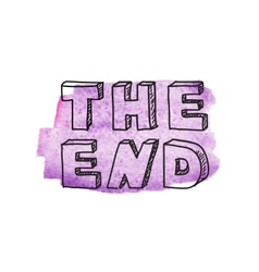 Inscription The end vector image