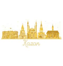 kazan russia city skyline golden silhouette vector image