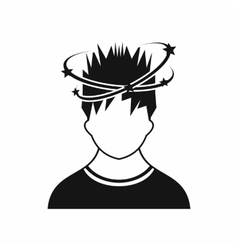 Man with dizziness icon simple style vector