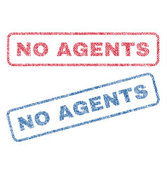 No agents textile stamps vector