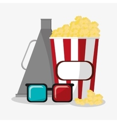 Pop corn cinema and movie design vector image
