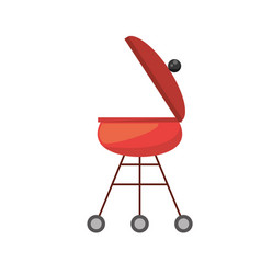 red grill cooking picnic vector image