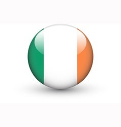 Round icon with national flag of Ireland vector image vector image