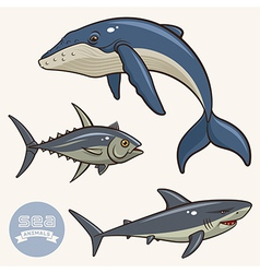 Sea Animals set 2 vector image vector image