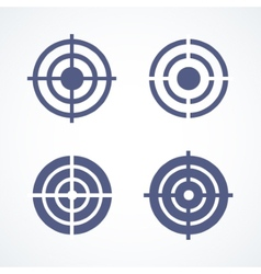 Set of simple abstract targets vector